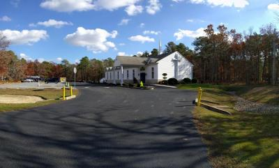 Jersey Shore Baptist Church as seen from Wrangleboro Road