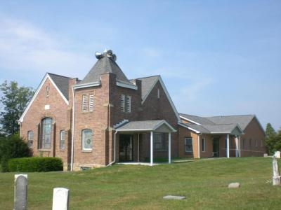 A view of the worship center, educational wing and fellowship hall.