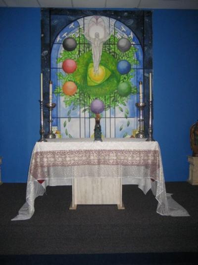 Main altar at the Shrine of Holy Wisdom