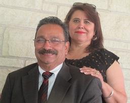 Raul Fernandez and his beautiful wife Luz