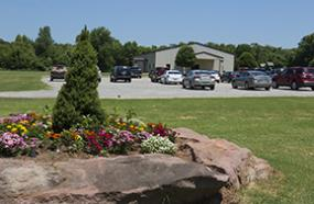 Photo of Church Parking Lot and Front Entrance