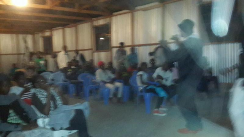 a night with youth in prayer and mentorshio