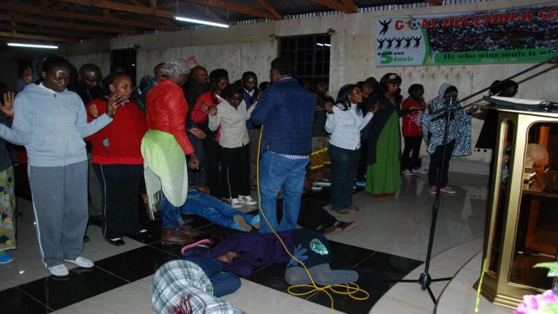 ministering healing to the sick during the night of prayer