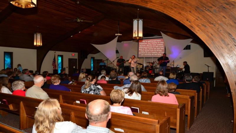 Worship in our Center Street campus sanctuary